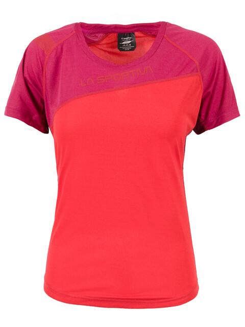La Sportiva Catch Koszulka do biegania z krótkim rękawem Kobiety czerwony/fioletowy